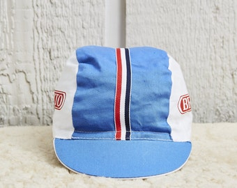 1980s Benotto Tri-Panel Cycling Hat • O/S
