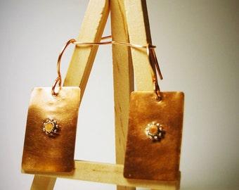 Copper Riveted Earrings