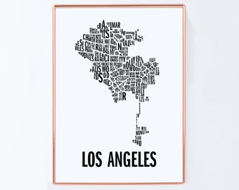 Los Angeles Wall Art los angeles poster | etsy