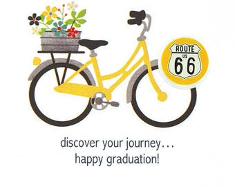 Graduation Day Card - Happy Graduation Card - Sister Graduation - Daughter Graduation Card - Congratulations Grad - Life Is A Journey - OOAK