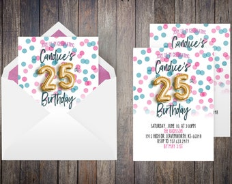 Cotton Candy Invite | Cotton Candy, Balloon Invitation, Gold Foil Invitation, Gold Foil Balloon, Invitations, Invitations Online
