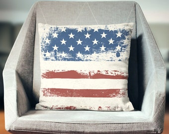 USA Pillow | 4th July | Patriotic Pillow | USA Throw Pillow | Americana Decor | USA Pillow Case | Usa Pillow Cover | Usa Cushion