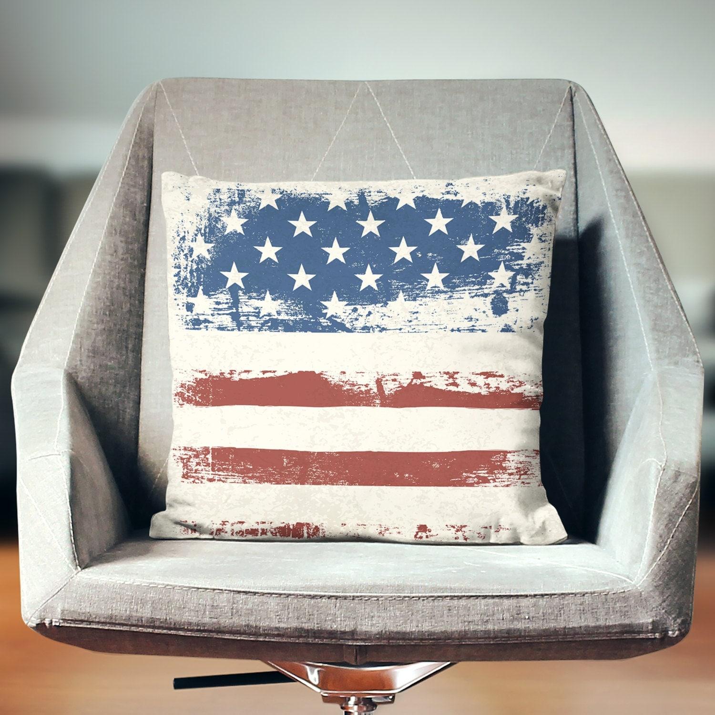Throw Pillows Usa : USA Pillow 4th July Patriotic Pillow USA Throw Pillow