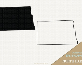 North Dakota Vector, State Clipart, ND Clip Art, North Dakota SVG, State PNG  (Design 13723)