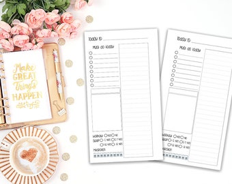 Day on one page v2 - DO1P - printable planner insert - Filofax personal - Kikki K Medium - print at home - planner refill - undated inserts