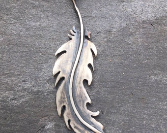 Feather Necklace, Sterling Silver Feather, Feather Pendant, Silver Feather, Feather Jewellery