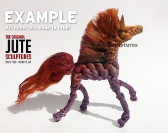 Jute Horse - Medium - Color Blended
