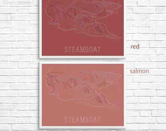 Steamboat Springs Ski Map Print — Steamboat Colorado Skiing