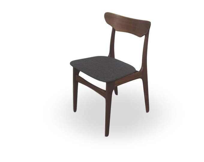 Danish Mid-Century Modern Teak Dining Chairs - New Upholstery (Set of 6)