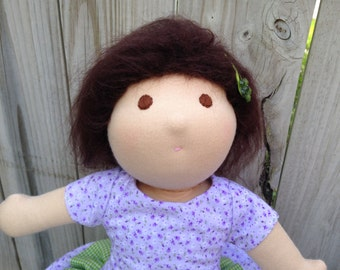 "Emma, a 15"", Waldorf-inspired, cloth doll"