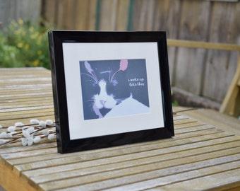 "Cat Art ""i woke up like this"" Funny Cat Print, Cat Lover, Cat Decor, Wall Art"