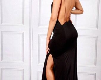 Emrata - Twisted Spaghetti Straps Maxi Dress With A Side Split
