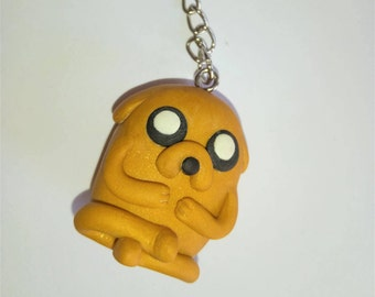 Jake the dog key chain yellow adventure time