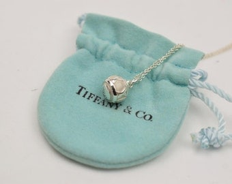 VERY RARE:  Unique and Stunning Tiffany & Co. Sterling Silver Atlas Ball Necklace