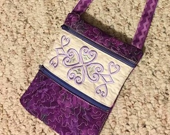 Embroidered Zippered Bag