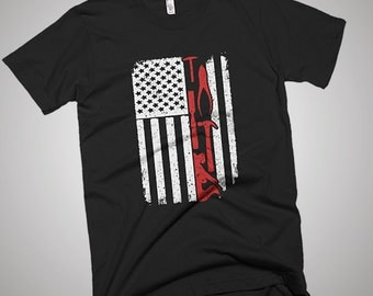 Woodworking USA American Flag T-Shirt