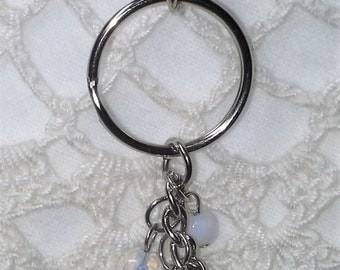 Beaded Purse Charm Keychain - One of a Kind! Handmade - Free Shipping
