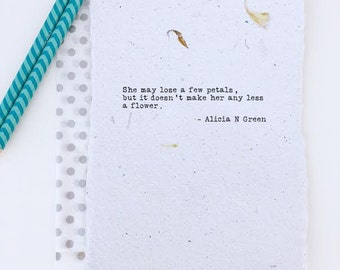 Mother's Day Gift for Mom from Daughter   Inspirational Poem Print for Sister   Typewriter Poetry Flower Quote by Alicia N Green