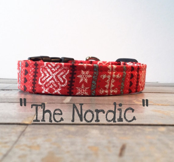 "DOG COLLAR, Made to Order, Winter Sweater, Cool COLLAR,  ""The Nordic"", Gender Neutral Dog Collar, Cozy Collar"