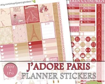 Paris Planner Printable Stickers, Erin Condren Weekly Kit Printable, Paris Sticker Erin Condren March Digital Stickers, ECLP Sticker Kit