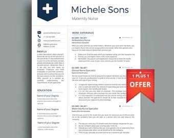 professional nurse resume template multipurpose cv template 1234 - Professional Nursing Resume