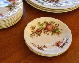 Johnson Bros, Harvest Time, SAUCER, Tableware Dishes, Johnson Brothers, England, hand engraved