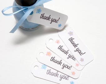 Mini Thank You Tags for Wedding Favors Bridal and Baby Shower Gifts - Small Thank You Favor Tags - Set of 20