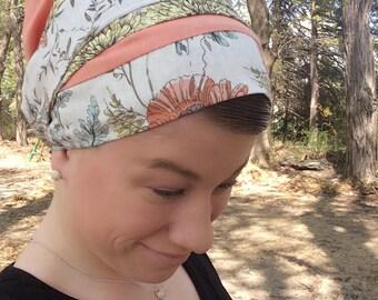 floral, head covering, head scarf, sinar tichel