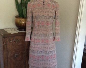 Vintage 1970's Tannel Knits Dress Size Small/ Med