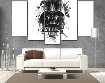 Darth Vader Star Wars Wall Art canvas Darth Vader print Darth Vader wall art Darth Vader wall decor Large Star Wars Canvas Print Decor