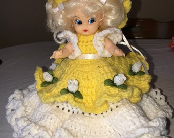 Handmade Crocheted Air Freshener Doll