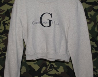 GUESS Cropped Crewneck