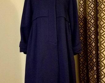 1960's Ilie Wacs Swing Coat. Size 10
