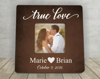 Valentine's Day Gift, Personalized Photo Frame, True Love, Gift for Couple, Gift for Boyfriend,  Personalized Picture Frame, Wedding photo
