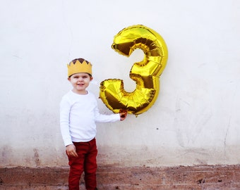 "Number Balloons Any Number || 30 inch Foil 30"" Silver Gold Birthday Balloon 