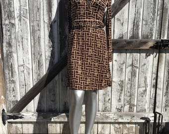 Women's Vintage Brown 70's Dress Size S