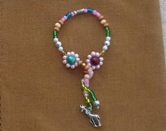 SPRINGTIME -Beaded Napkin Rings sets of 4