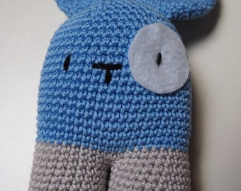 Light Blue Bunny amigurumi Ydekado handmade gift idea