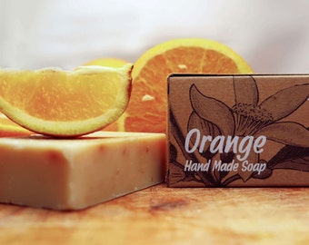 Orange Soap,citrus soap,all natural soap,unscented soap,vegan soap,organic soap,bar soap,gift for all,homemade soap,essential oil soap