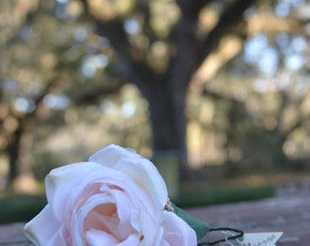 """The """"Newport"""" floral halo crown // pink wedding, bridal headpiece, bridesmaid headpiece, garden wedding, romantic wedding, floral halo"""