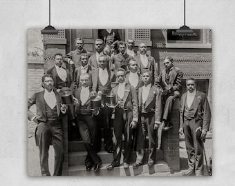 Class Photo, Howard University Circa 1900, African American Art, Law Class of 1900, Howard University, Washington DC, Black Men Photography