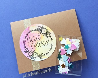 Happy Mail Card Pack - Watercolor Friend