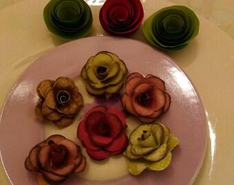 1 set of 9 decorative roses
