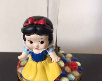 Snow White princess bling wine glass