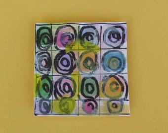 Kandinski Inspired Handpainted Greeting Card