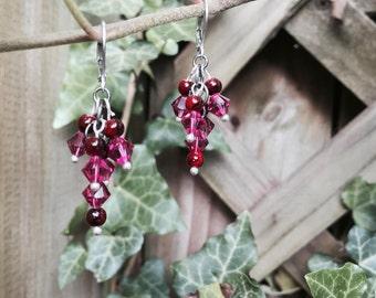 Blackberry Cluster Earrings
