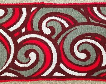 Crochet Waves Afghan/Graphghan/Blanket