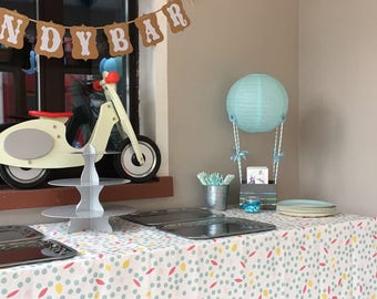 Unique - hot air balloon - gift - christening - baby shower - wedding - to the build your own