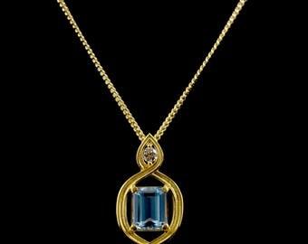Aqua Infinity Necklace