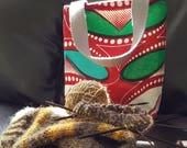 Red Bean Knitting Bag / Tote Bag